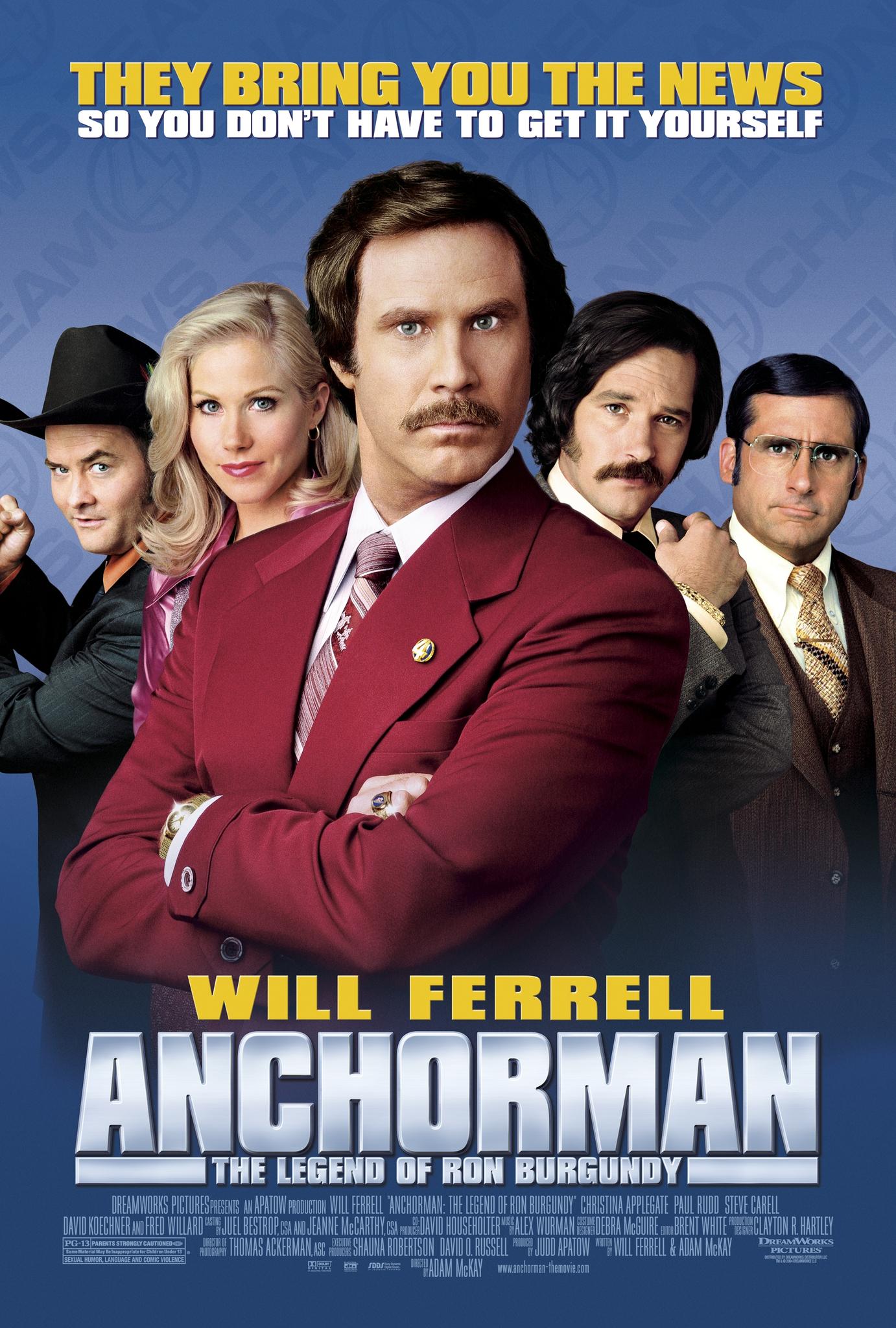ดูหนัง Anchorman: The Legend of Ron Burgundy (2004) ประกาศรบ แต่ดั๊นมาพบรัก